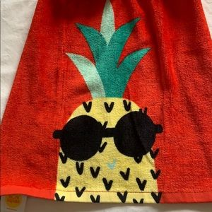 Other - Pineapple Crocheted Hanging Cotton Kitchen Towel